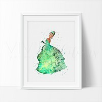 Princess Tiana 2 Watercolor Art Print