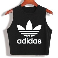 Adidas Woman Casual Print Sport Gym Vest Tank Top Cami