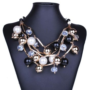 Vintage Multilayer Necklace Chunky Necklace
