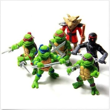 CREYUG3 6Pcs Teenage Mutant Ninja Turtles TMNT Action Figures Toy Set Classic Collection = 1946546820