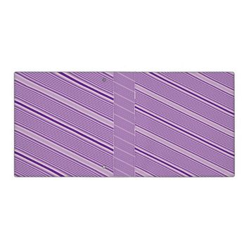 Purple Stripes 3 Ring Binder