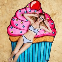 Cupcake Beach Towel Blanket - LAST ONE!