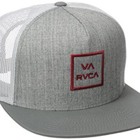 RVCA Men's VA All The Way Trucker Hat 3, Athletic/Red, One Size