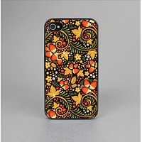 The Colorful Floral Pattern with Strawberries Skin-Sert Case for the Apple iPhone 4-4s
