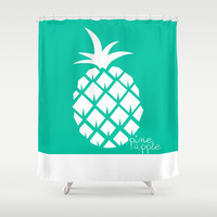 Pineapple V.5 Shower Curtain by C Designz