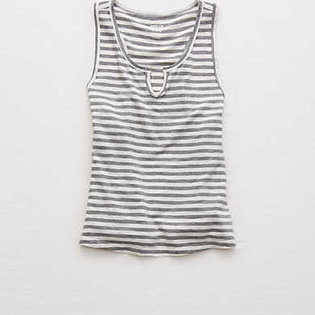 Aerie Split Scoop Tank , Gray