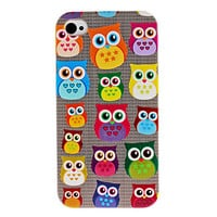 Cute Owl Pattern Hard Case for iPhone 4 and 4S