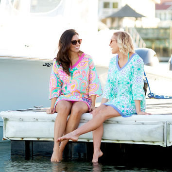 Monogrammed Swim Cover Up, Mongrammed Tunic, Monogrammed Beach Tunic, Swim Cover Up, Personalized Cover Up, Lilly Inspired Tunic