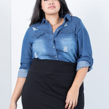 Plus Size Feelin' Torn Shirt