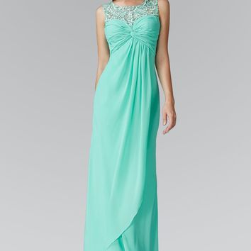 Affordable Tiffany blue long chiffon bridesmaid dress  gl2061