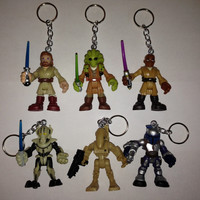 Playskool Heroes - Star Wars Keychain [5 characters available] - re-purposed toys