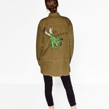 OVERSIZED EMBROIDERED SHIRT