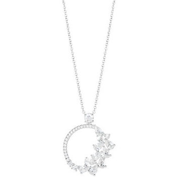 Nadri Cubic Zirconia Open Pendant Necklace