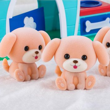 27 desgin Little Cute Flocking Doll Toys Kawaii Mini Cats Decoration Toys bear dog Little Exquisite Dolls Christmas Gifts toy036