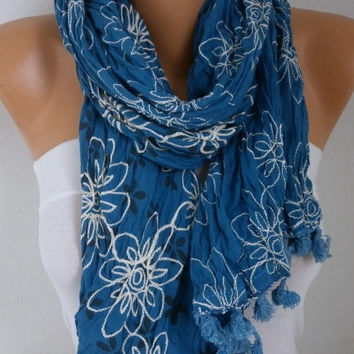 New Year's Fashion Teal Scarf Valentine's  Winter Accessories Shawl Oversize Scarf Cowl Scarf Gift Ideas for Her Women Fashion Accessories