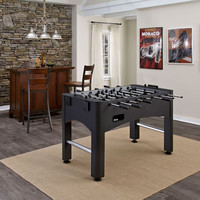 Home Styles Furniture 6001-00 The Modern Black and Silver Pro Foosball Game Table