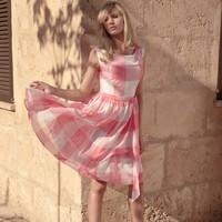 Pane Check Dress - at LAURA ASHLEY