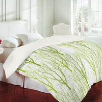 Karen Harris Citrus 4 What Forest Duvet Cover - Twin | Find it at the Foundary
