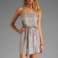 Rory Beca Mo Beaded Low Back Dress in Silver from REVOLVEclothing.com