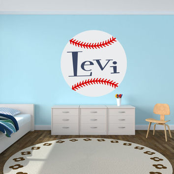 Baseball Wall Decal,  Personalized Name Baseball Wall Decal, Baseball Decor, Nursery Name Decal, Baseball Art, Baseball Sign