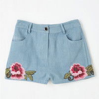 Boho Short Length The Day We Meadow Shorts