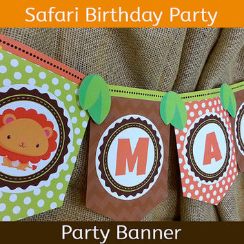 Safari Party Banner / Safari Birthday Banner / Jungle Party Banner
