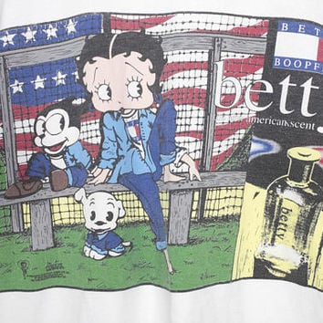 BETTY BOOPFIGER t shirt - vintage 90s - betty boop + tommy hilfiger bootleg