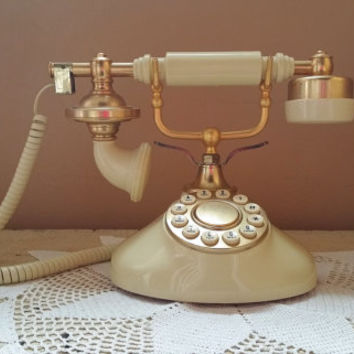 Vintage French Phone Working Touch Tone Push Button Telephone Teleconcepts