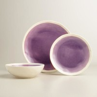 Violet Henley Salad Plates Set of 4