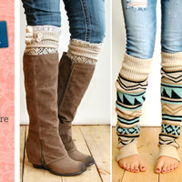 Grace And Lace AS SEEN ON SHARK TANK - Leg Warmers, Boot Socks, Boot Cuffs, Knit Scarves, Arm Warmers And More From Grace And Lace Co