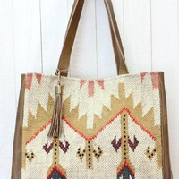Navajo Plains India Artisan Tote Handbag