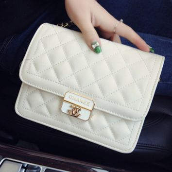 Women shopping shoulder bag female inclined shoulder bag White