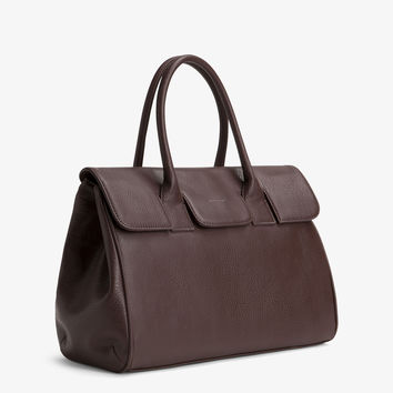 Matt and Nat Clarke Satchel Bag in Cocoa Brown Vegan Leather