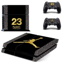 Michael Jordan 23 for PS4 Skin Sticker For Sony Playstation 4 PS4 Console protection f