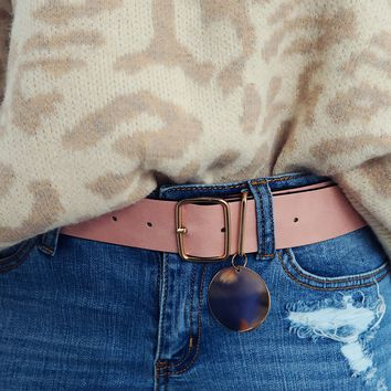 Be Yourself Belt: Pink/Gold