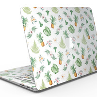 The Tropical Pineapple and Floral Pattern - MacBook Air Skin Kit
