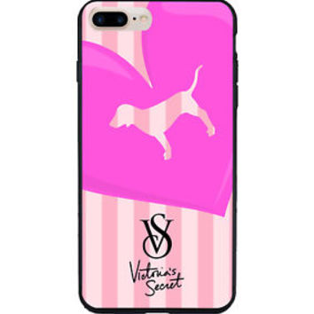 New !! Best Victoria's Secret Cute Pink iPhone 6 6s 7 8 Plus Hard Plastic Case