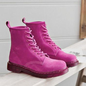 ac DCK83Q On Sale Hot Deal Flat Round-toe Leather Dr. Martens Summer Boots [120850317337]