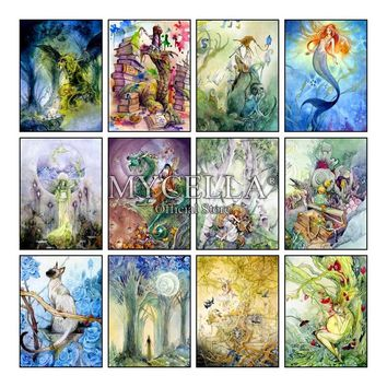 Diy Diamond Painting Cross Stitch Mosaic Fantasy Art 5d Tarot Cards Mermaid Art Drawings Home Decor Diamond Embroidery Kids Gift
