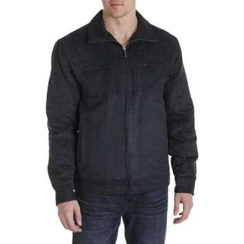 London Fog Mens Winter Microsuede Coat