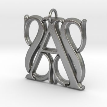 Monogram Initials SSA Pendant by CalicoFlair on Shapeways