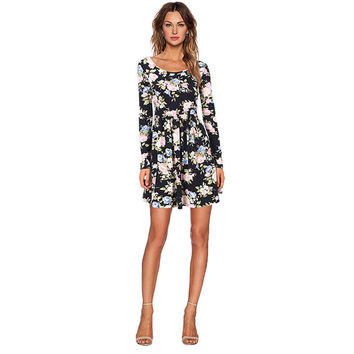 Messic Long Sleeve Floral Dress