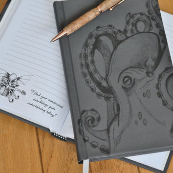 The Notebook Of Cthulhu | H.P. Lovecraft-inspired notebook featuring the humorous thoughts and opinions of the almighty Cthulhu