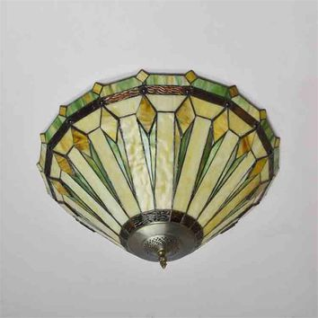 Vintage Geometric Glass Ceiling Lamp