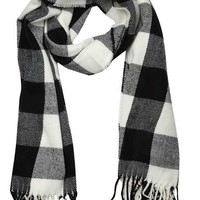 Monochrome Gingham Check Scarf - View All New In - New In