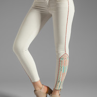 MOTHER The Looker Crop Skinny in Barefoot Princess from REVOLVEclothing.com