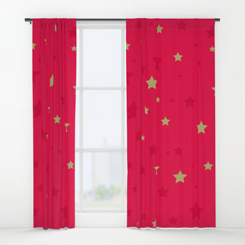 Stars Window Curtains by printapix