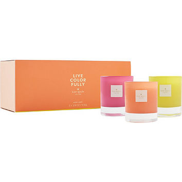 Online Only Live Colorfully Candle Collection