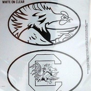 South Carolina Gamecocks USC 2-Pack EURO STYLE Home Auto Decals University of