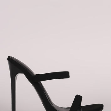 Shoe Republic LA Nubuck Two Band Stiletto Heel